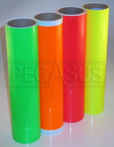 Large photo of Neon Scotchcal Film, per linear ft, Pegasus Part No. 3351-Color