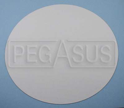 Large photo of White Scotchcal Circle, Pegasus Part No. 3367-Size
