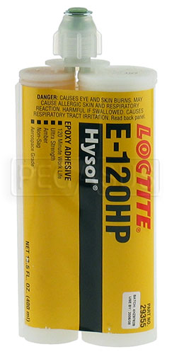 Large photo of Loctite E-120HP Hysol Epoxy Adhesive, 400ml Cartridge, Pegasus Part No. 3369