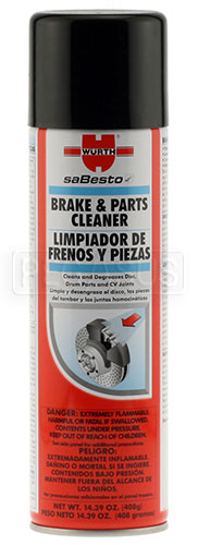 Large photo of (HAO) Wurth Brake Cleaner, Pegasus Part No. 3393-Quantity