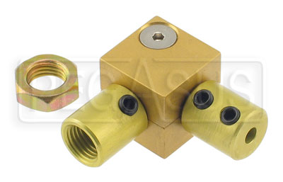 Large photo of Tilton Right Angle Coupler for 3/8-24 Bias Adjuster Cable, Pegasus Part No. 3535