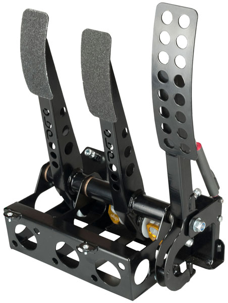 Large photo of OBP Pro-Race Cockpit Floor Mt 3-Pedal Assy, 2 Pot DBW, no MC, Pegasus Part No. 3537-014