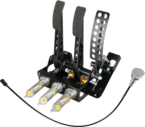 Large photo of OBP Track Pro 3-Pedal Box w MC & Bias Cable, Impreza, Pegasus Part No. 3537-030