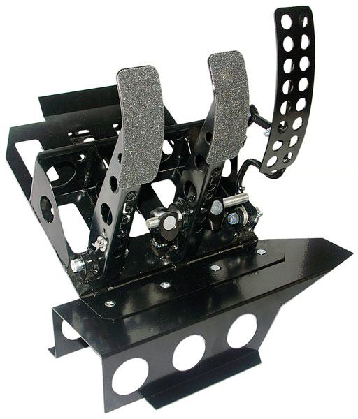 Large photo of OBP Track Pro 3-Pedal Box w/o MC, BMW E36 LHD, Pegasus Part No. 3537-104