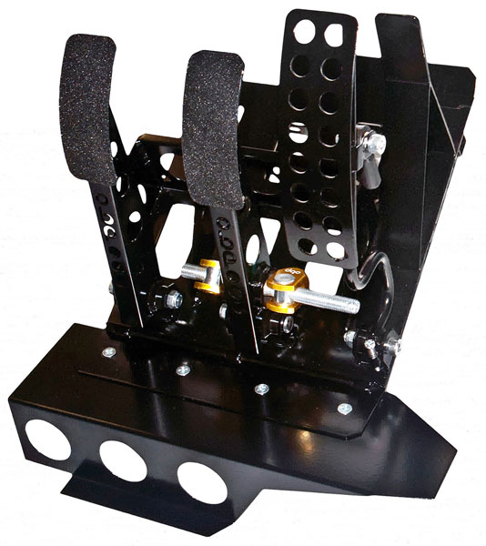 Large photo of OBP Track Pro 3-Pedal Box, DBW w/o MC, BMW E46 LHD, Pegasus Part No. 3537-105