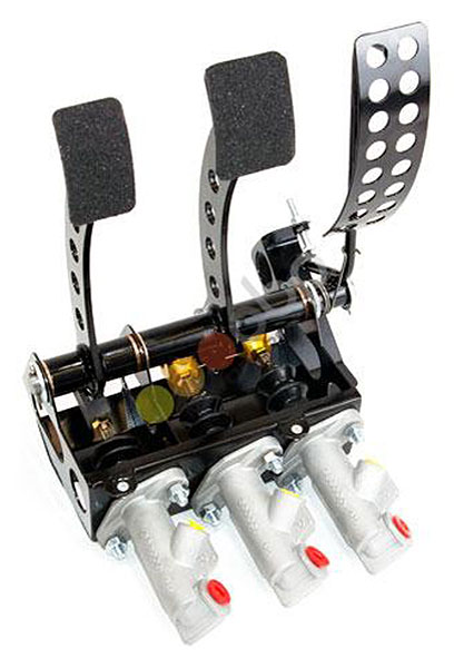 Large photo of OBP Track Pro 3-Pedal Box w/MC, Subaru Impreza, Pegasus Part No. 3537-203
