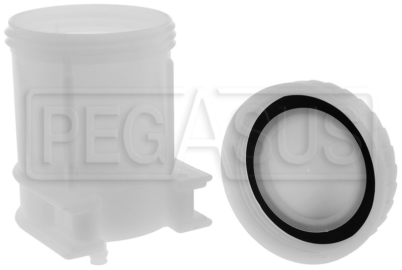 Large photo of Large Brake Fluid Reservoir, Single 5/16 Push-On, Pegasus Part No. 3565