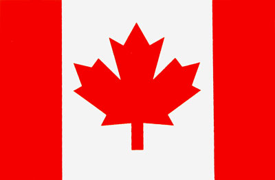 "Large photo of Canadian ""Maple Leaf"" Flag Decal, Pegasus Part No. 3610-102"