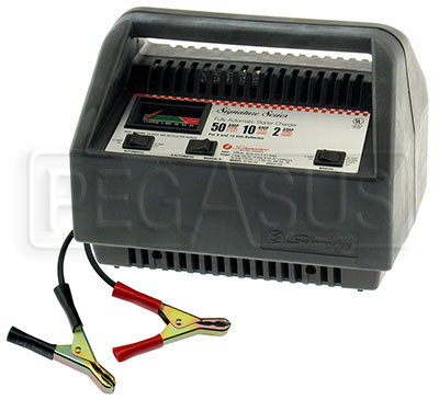 Large photo of Schumacher Automatic 6 & 12 volt Battery Charger, 50/10/2amp, Pegasus Part No. 3722