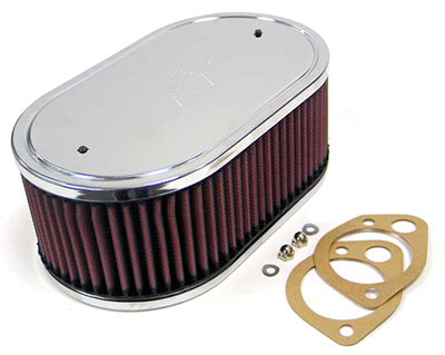 "Large photo of K&N Air Filter, Weber DCOE 45, 48 + Mikuni/Solex, 5.5 x 9"", Pegasus Part No. 3811-Size"