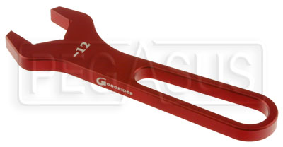 Large photo of Aluminum AN Hose End Wrench, 12AN, Pegasus Part No. 3830-112