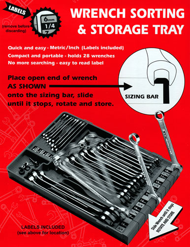 Large photo of Sort A Tool Storage Tray, Pegasus Part No. 3849