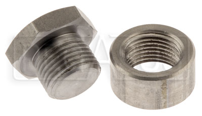 Large photo of Stainless Steel Sensor Plug & Weld Bung for O2 Sensor, Pegasus Part No. 3877-PLUG