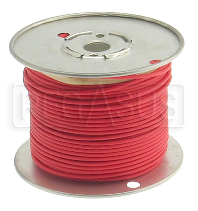 Large photo of Wire, 18 Gauge - Red, Pegasus Part No. 4001-Size