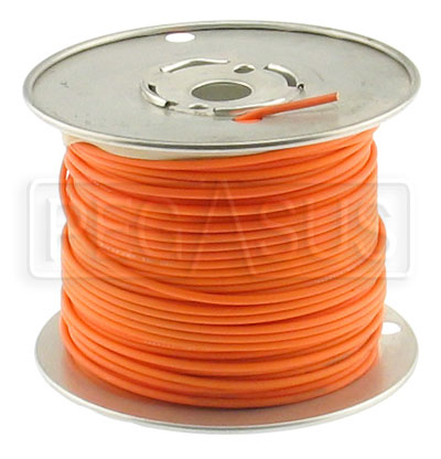 Large photo of Wire, 18 Gauge - Orange, Pegasus Part No. 4002-Size