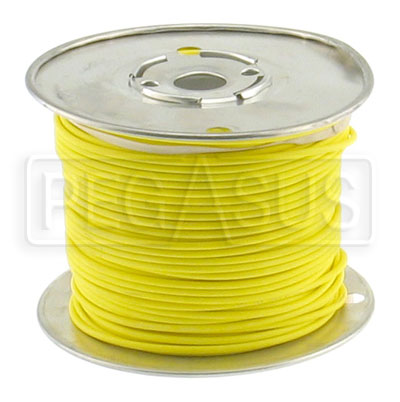 Large photo of Wire, 18 Gauge - Yellow, Pegasus Part No. 4003-Size