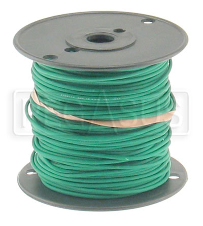 Large photo of Wire, 18 Gauge - Green, Pegasus Part No. 4004-Size