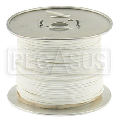 Large photo of Wire, 18 Gauge - White, Pegasus Part No. 4006-Size