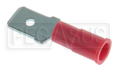 Large photo of Terminal, 22-18 Gauge Red  Male Push-On, Pegasus Part No. 4107
