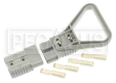 Large photo of Web Special, #4147 Auxiliary Battery Connector Set w/ Handle, Pegasus Part No. WEB33