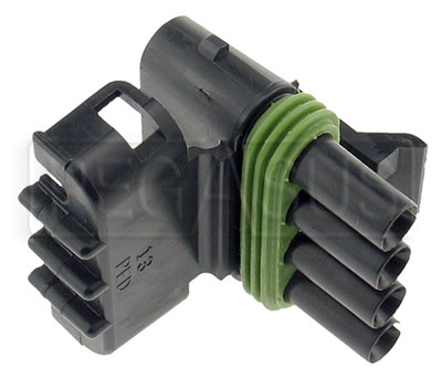 Large photo of Weather Pack 4-Pin Tower Connector Body, Pegasus Part No. 4185-004