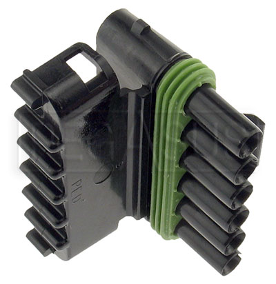 Large photo of Weather Pack 6-Pin Tower Connector Body, Pegasus Part No. 4185-005