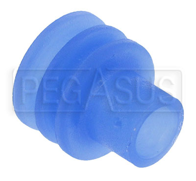 Large photo of Weather Pack Terminal Seal for 3.45 to 4.30mm Wire (Blue), Pegasus Part No. 4185-074