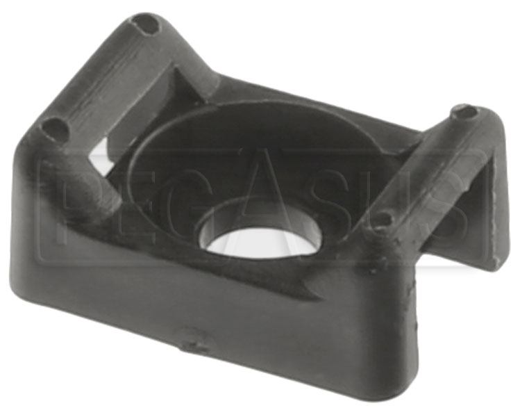 Large photo of Saddle Mount for Large Cable Ties, Black, Pegasus Part No. 4337-002