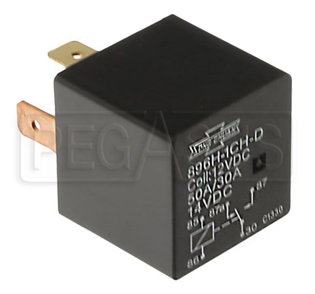 Large photo of Change Over Relay no Mounting Bracket, 12v, 30/50 amp, Pegasus Part No. 4411-001