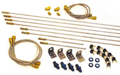 Large photo of Longacre Complete Brake Line Kit, 4AN, Pegasus Part No. 4521