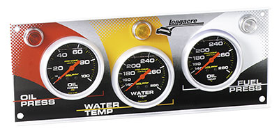 Large photo of 3 Gauge Panel - Oil Pressure, Water Temp, Fuel Pressure, Pegasus Part No. 4602