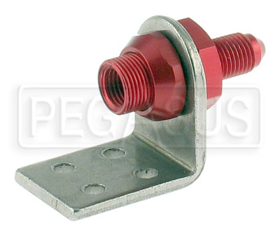 Large photo of 3AN Brake Fitting with Frame Tab, Weldable or Rivet Mount, Pegasus Part No. 4651