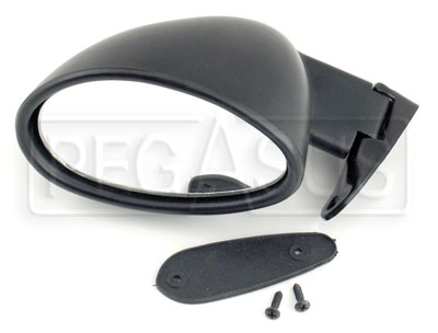 Large photo of Vitaloni Californian Mirror, Flat Lens, Black - Left Side, Pegasus Part No. 5105