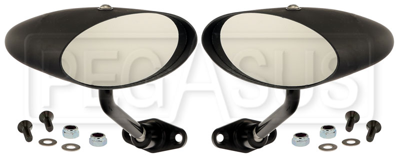 Large photo of Club Series Elliptical Convex Lens Mirrors, Nylon, Pair, Pegasus Part No. 5168-001