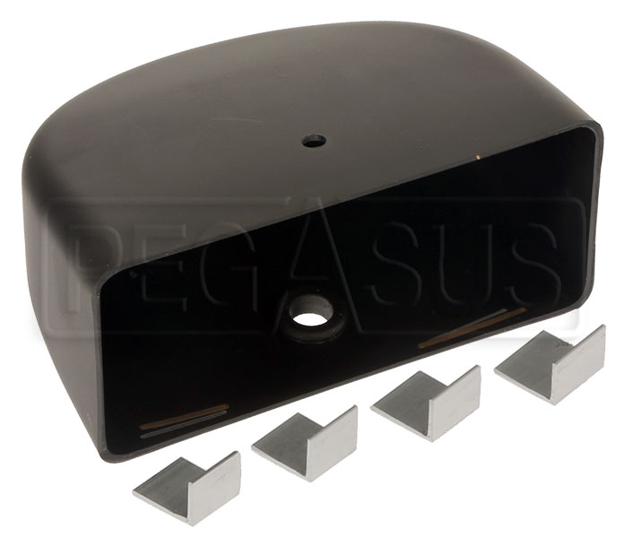 Large photo of Replacement Vinyl Mirror Housing for Club Series, Rectangle, Pegasus Part No. 5168-319