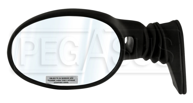 Large photo of Vitaloni Concept V Mirror, Black - Convex Lens, Pegasus Part No. 5170-004