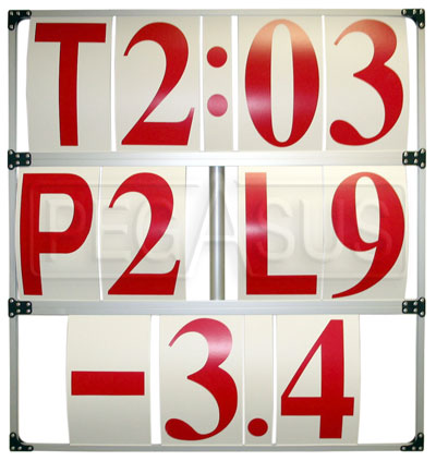 Large photo of Anodized Aluminum Frame Style Pit Board with Number Set, Pegasus Part No. 5206-Size