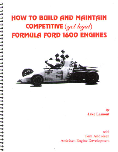 Large photo of How to Build and Maintain Competitive FF1600 Engines, Pegasus Part No. 5293