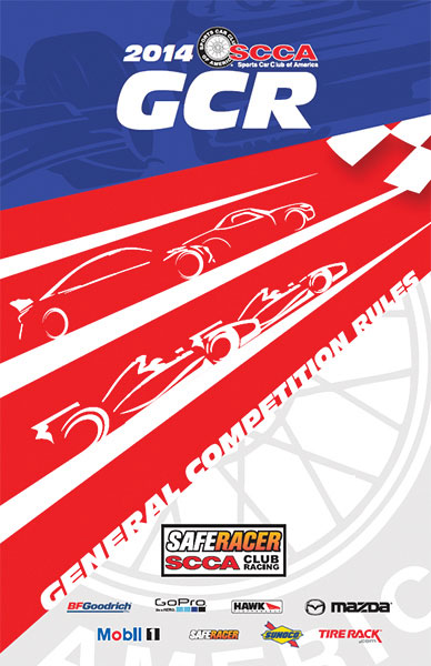 Large photo of SCCA General Competition Rules Manual, 2014 Edition, Pegasus Part No. 5360