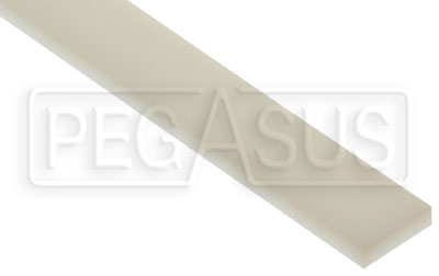 Large photo of 1/4 x 1 inch Wear Strip, per inch of length, Pegasus Part No. 6101