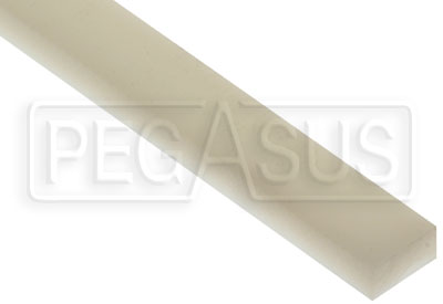 Large photo of 1/2 x 1 inch Wear Strip, per inch of length, Pegasus Part No. 6102