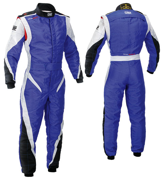 Large photo of OMP One Evo-K Karting Suit, Pegasus Part No. 9302-001-Size-Color