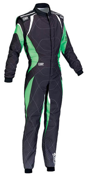 Large photo of OMP KS-1 Karting Suit, Pegasus Part No. 9302-002-Size-Color