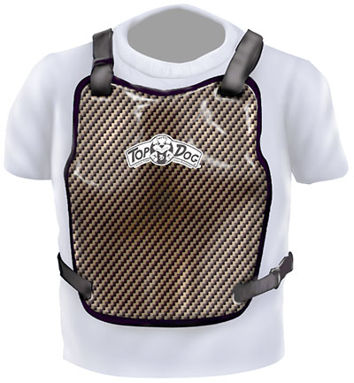 Large photo of Top Dog Carbon Fiber Chest Protector, SFI 20.1, Pegasus Part No. 9316-Size