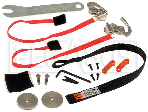 Large photo of Tether & Anchor Kit - QC Sliding, for Adjustable HANS, Pegasus Part No. 9597-097-Size