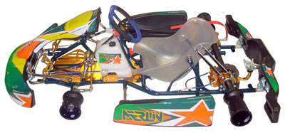 Large photo of Merlin LM30 Gearbox Kart, Rolling Chassis, Pegasus Part No. 9653-002