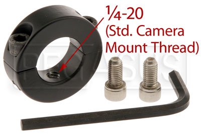 Large photo of Pro Collar Mount Adapter for Bullet Camera, Aluminum, Pegasus Part No. 9750-675