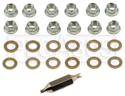 Large photo of CIK 8mm Jetnut and Washer Kit, 12-pc, Pegasus Part No. 9814-031