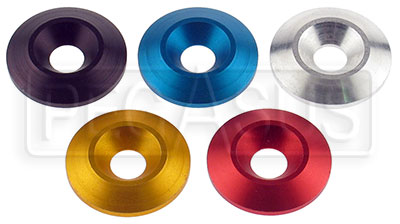 "Large photo of 8mm (5/16"") Aluminum Conical Washer, Pegasus Part No. 9932-Color"
