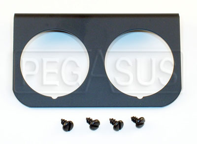 Large photo of 2-Hole Mounting Panel for Z Series Gauges, Black, Pegasus Part No. AM2237